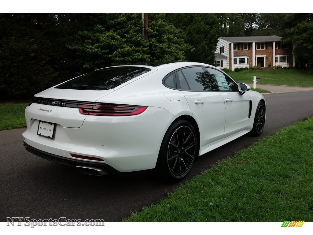 2018 Panamera 4 - White / Black photo #4