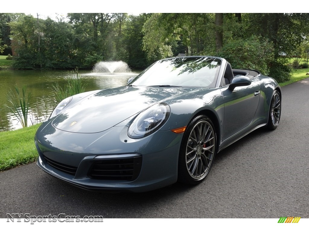 Graphite Blue Metallic / Agate Grey Porsche 911 Carrera 4S Cabriolet