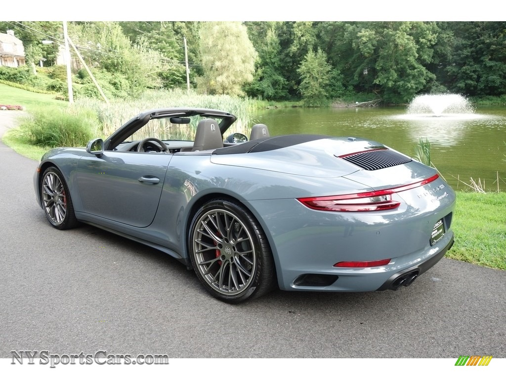 2017 911 Carrera 4S Cabriolet - Graphite Blue Metallic / Agate Grey photo #4