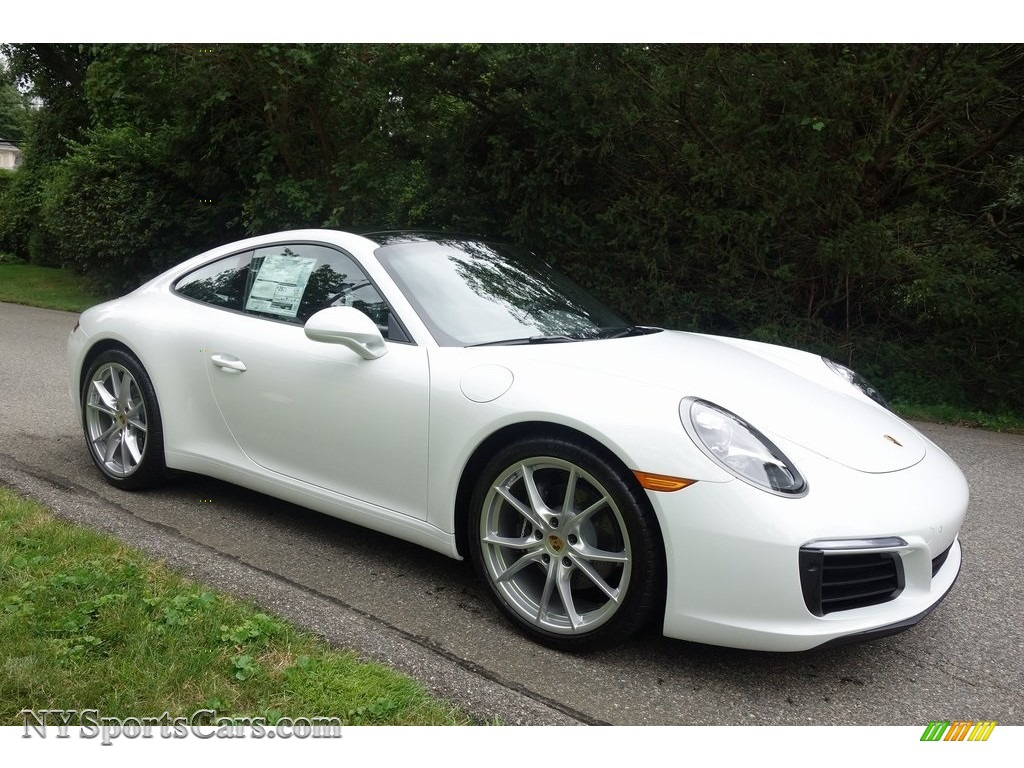 White / Black Porsche 911 Carrera Coupe
