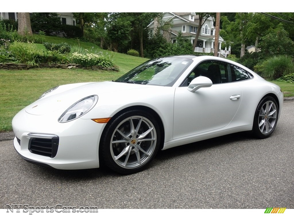 2019 911 Carrera Coupe - White / Black photo #8