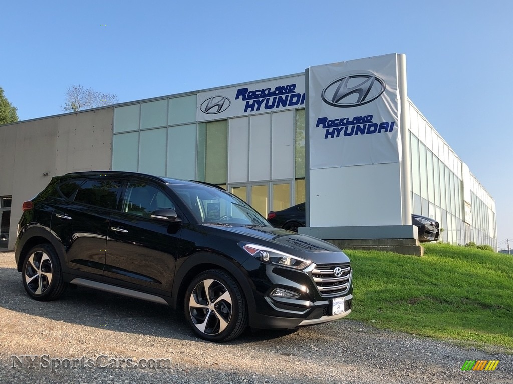 2017 Tucson Limited AWD - Black Noir Pearl / Black photo #1