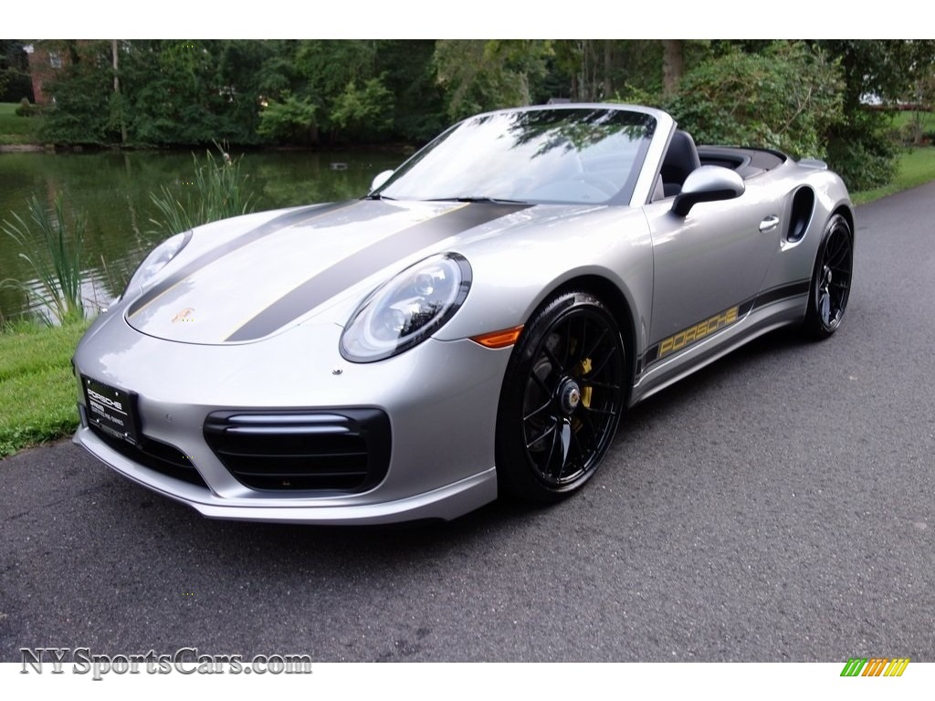 2017 911 Turbo S Cabriolet - GT Silver Metallic / Black photo #1