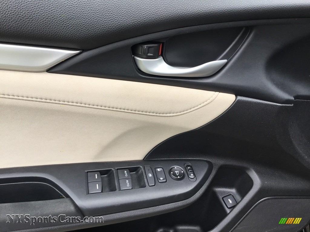 2017 Civic EX Sedan - Crystal Black Pearl / Ivory photo #9