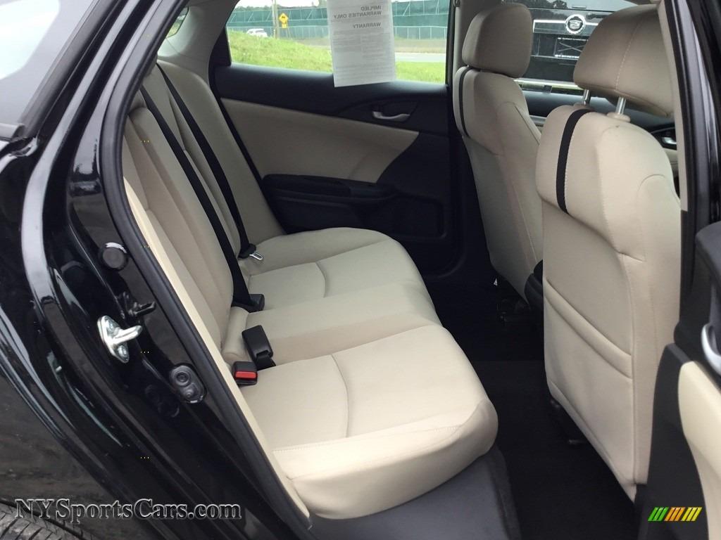 2017 Civic EX Sedan - Crystal Black Pearl / Ivory photo #22