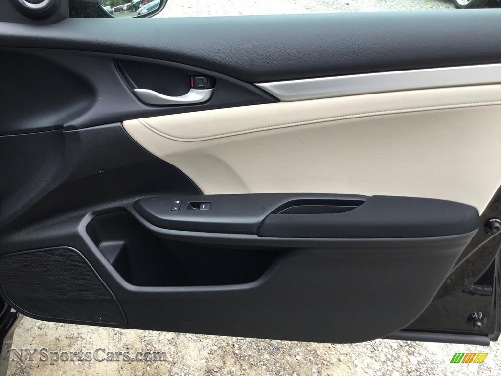 2017 Civic EX Sedan - Crystal Black Pearl / Ivory photo #23