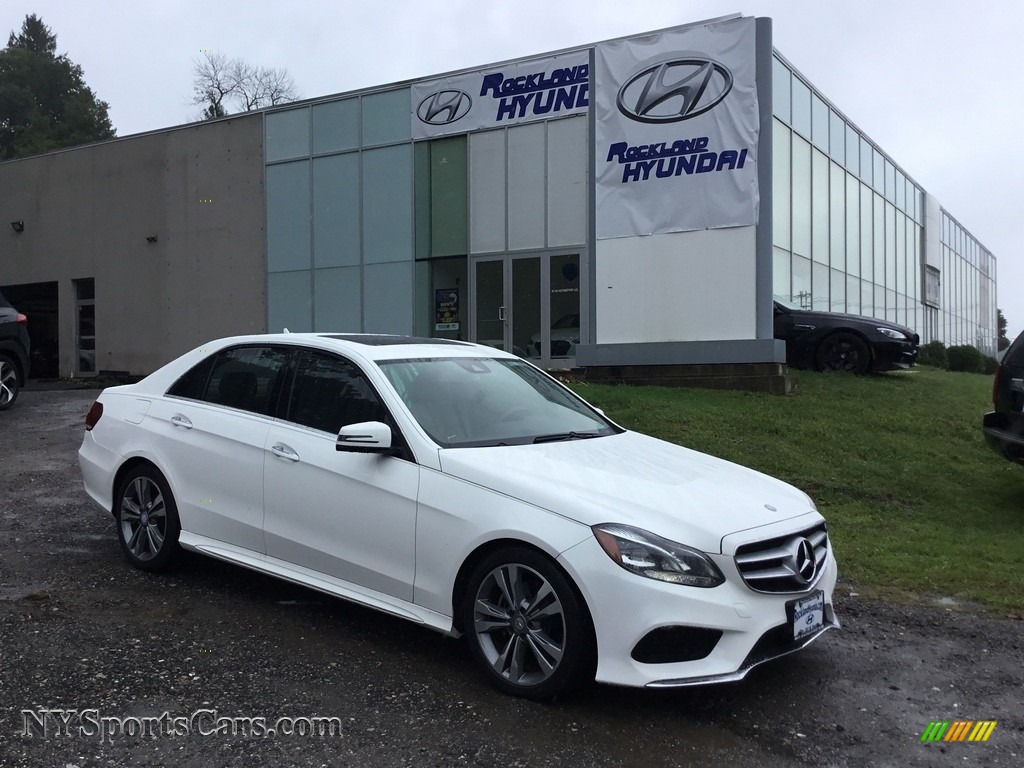 2014 E 350 Sport Sedan - Diamond White Metallic / Silk Beige/Espresso Brown photo #1