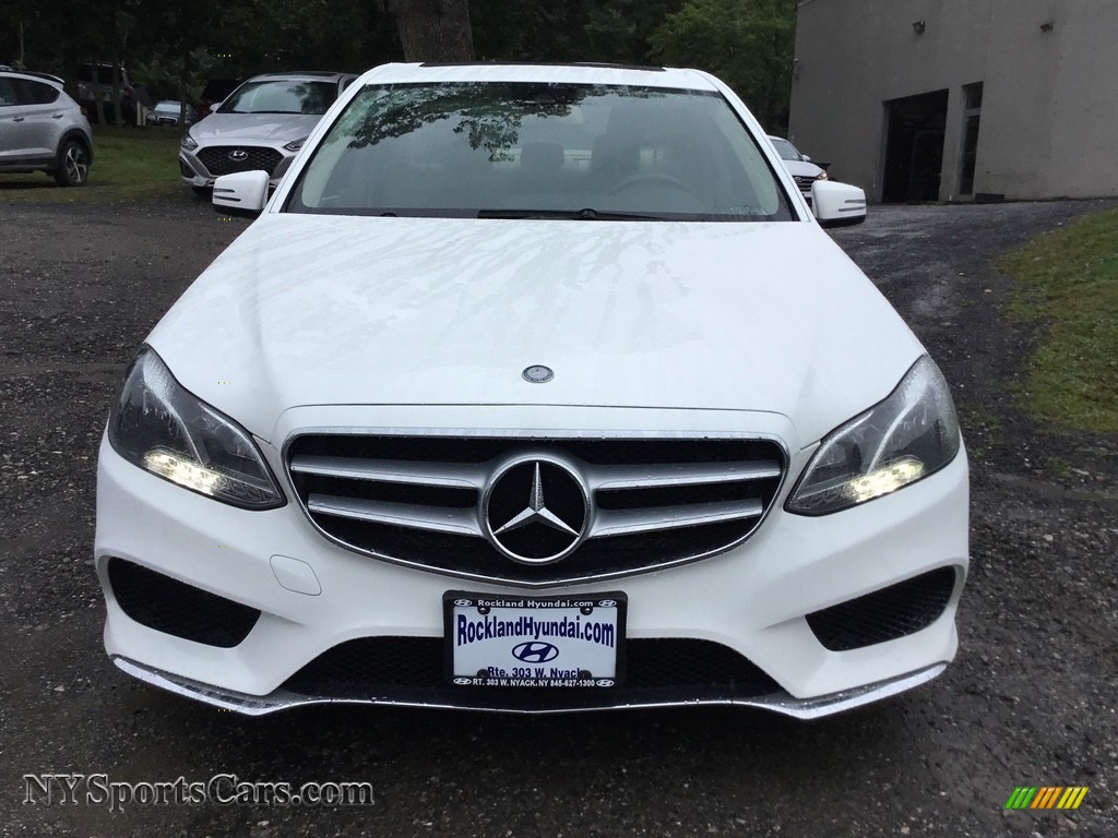 2014 E 350 Sport Sedan - Diamond White Metallic / Silk Beige/Espresso Brown photo #2