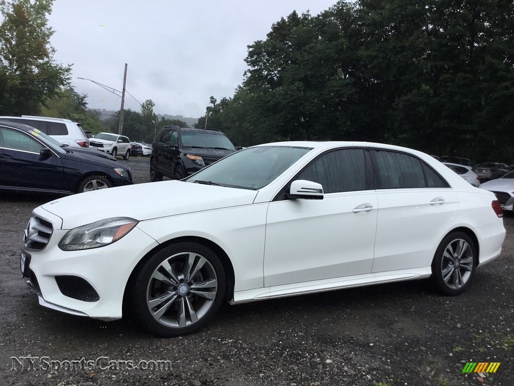 2014 E 350 Sport Sedan - Diamond White Metallic / Silk Beige/Espresso Brown photo #7