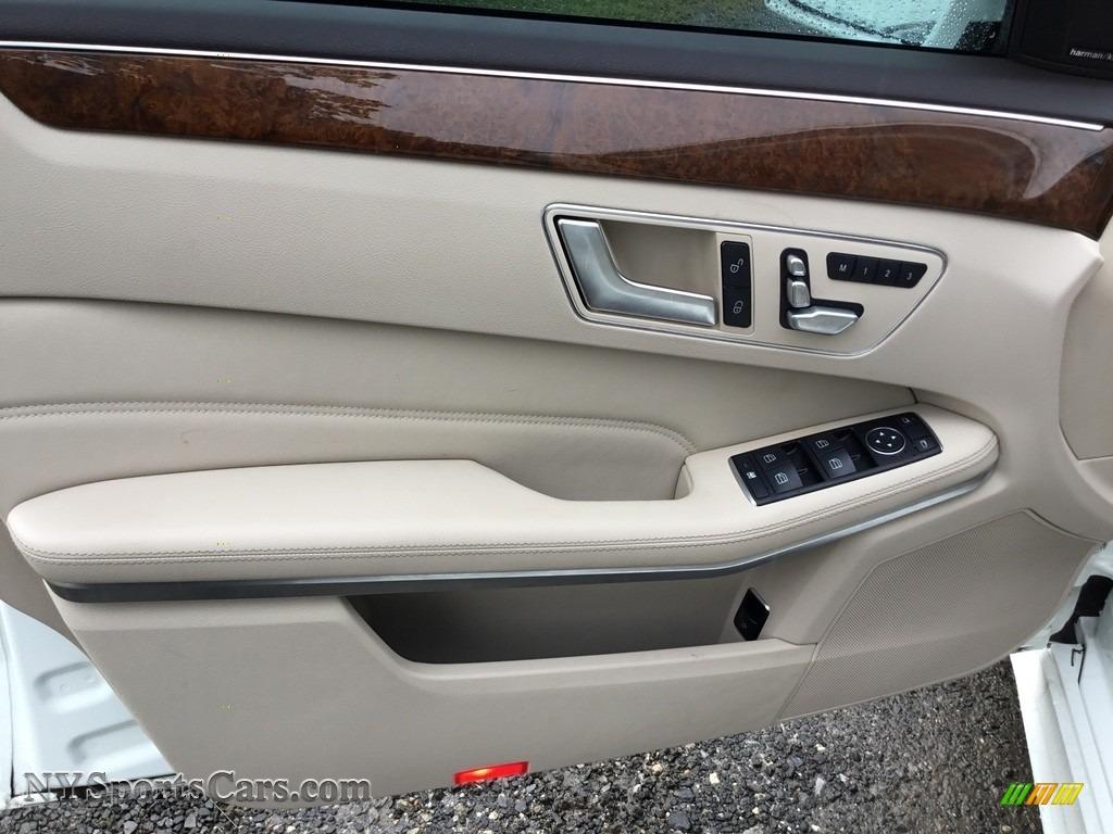 2014 E 350 Sport Sedan - Diamond White Metallic / Silk Beige/Espresso Brown photo #8