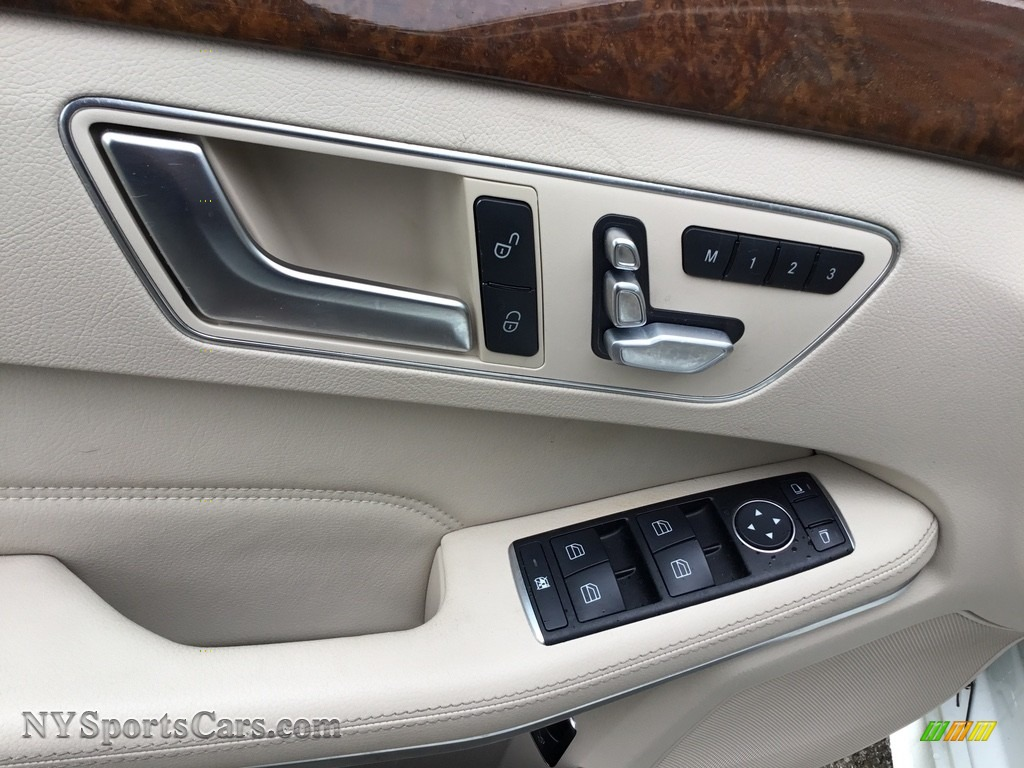 2014 E 350 Sport Sedan - Diamond White Metallic / Silk Beige/Espresso Brown photo #9