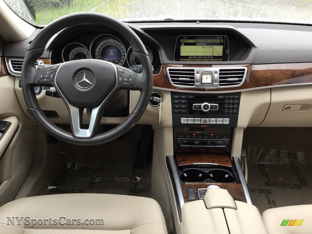 2014 E 350 Sport Sedan - Diamond White Metallic / Silk Beige/Espresso Brown photo #13