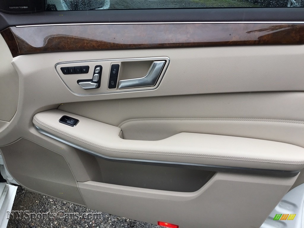2014 E 350 Sport Sedan - Diamond White Metallic / Silk Beige/Espresso Brown photo #24