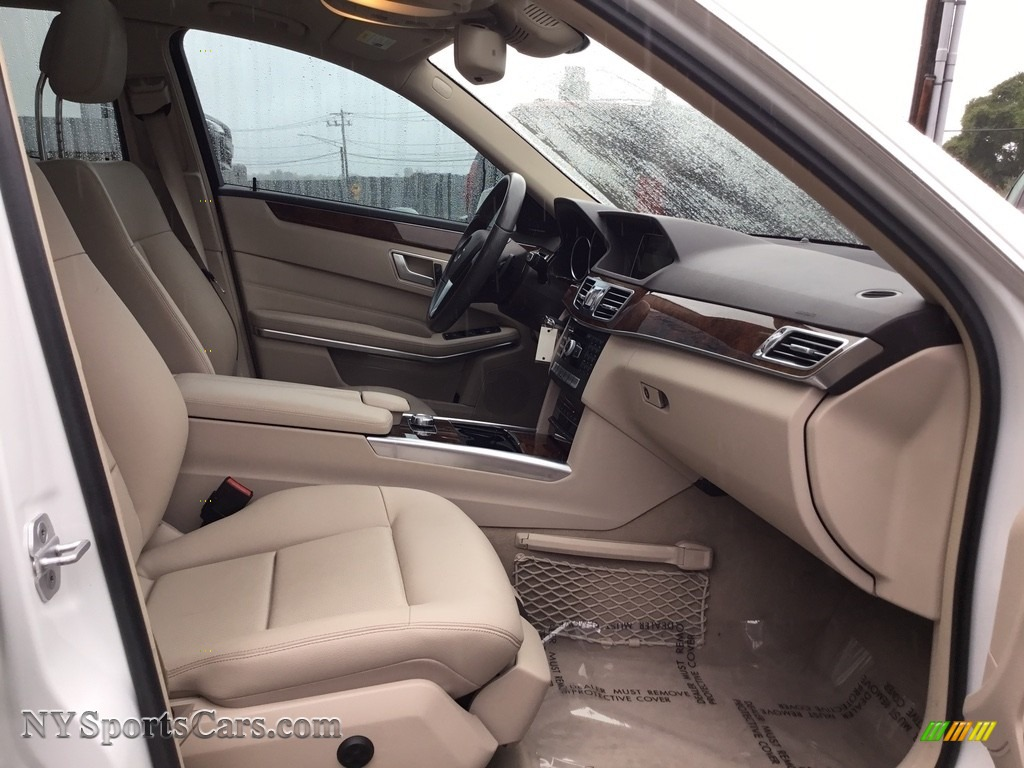 2014 E 350 Sport Sedan - Diamond White Metallic / Silk Beige/Espresso Brown photo #25