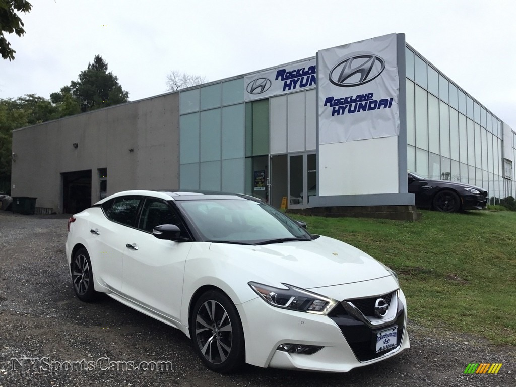 2016 Maxima SL - Pearl White / Charcoal photo #1