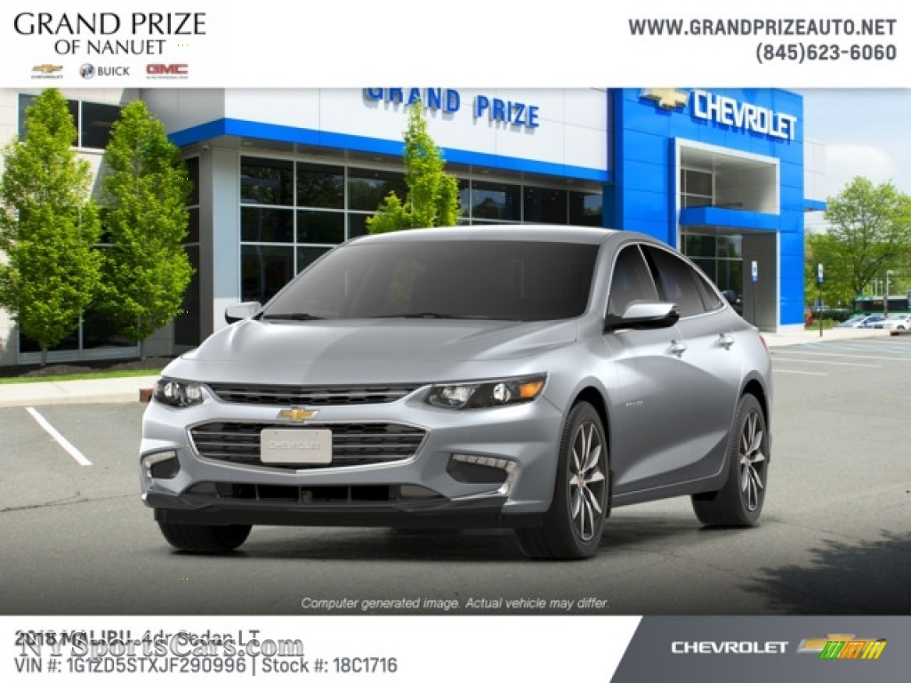 2018 Malibu LT - Silver Ice Metallic / Dark Atmosphere/Loft Brown photo #1