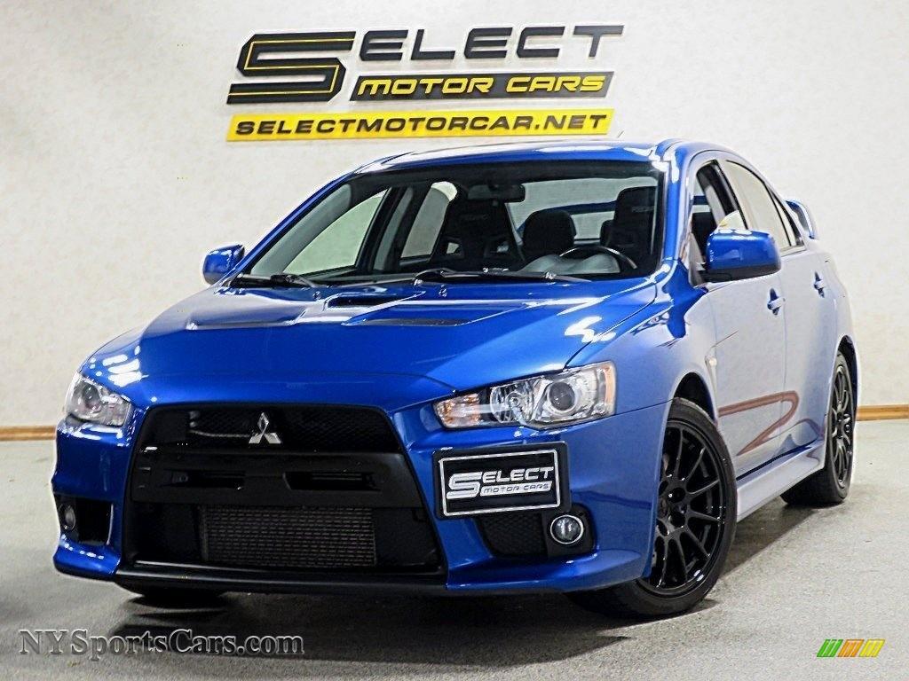 2011 Lancer Evolution GSR - Octane Blue Pearl / Black photo #11