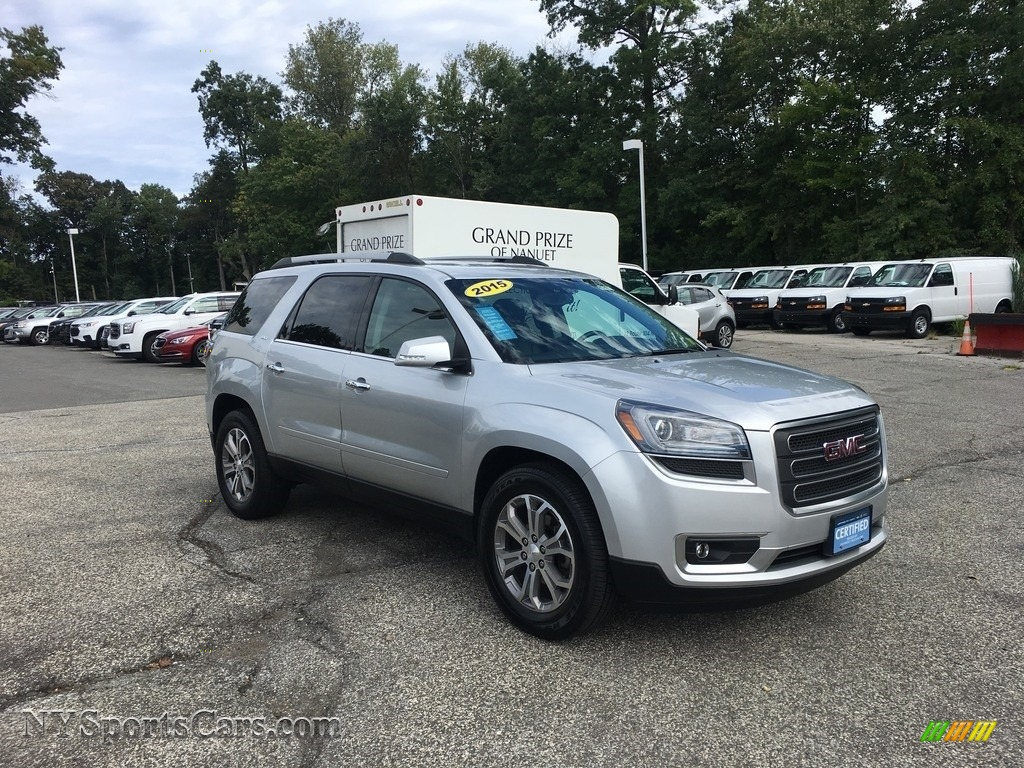 2015 Acadia SLT AWD - Champagne Silver Metallic / Ebony photo #1