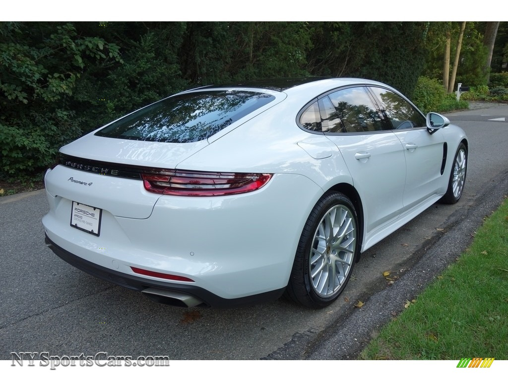 2018 Panamera 4 - Carrara White Metallic / Black/Luxor Beige photo #6