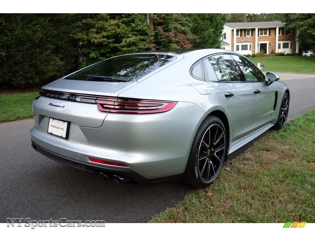 2018 Panamera 4 - Rhodium Silver Metallic / Black photo #4