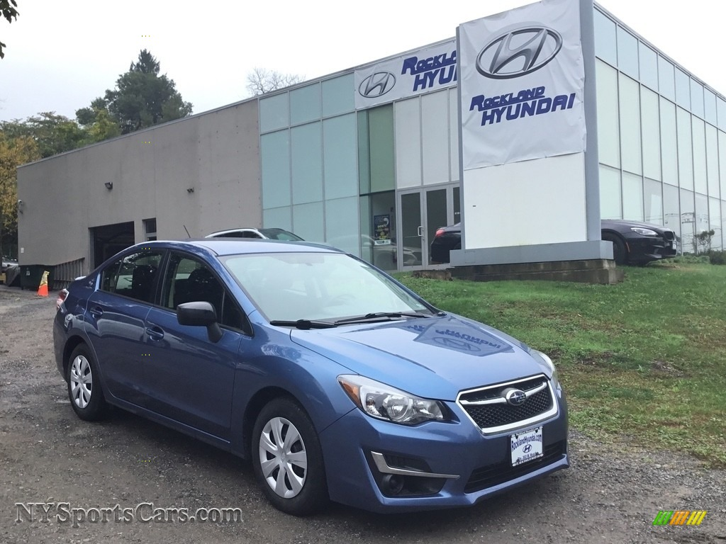 2016 Impreza 2.0i 4-door - Quartz Blue Pearl / Black photo #1