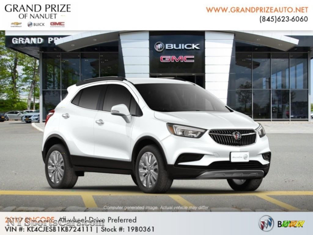 2019 Encore Preferred AWD - Summit White / Ebony photo #4
