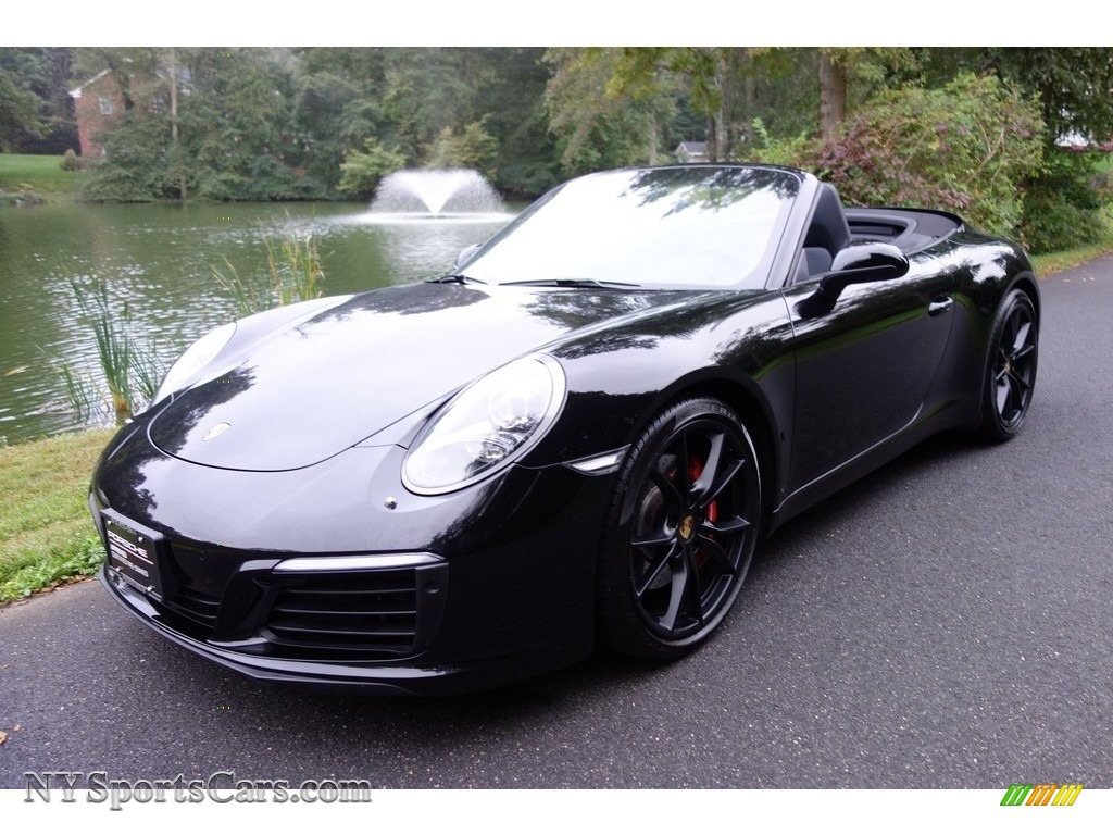 2017 911 Carrera S Cabriolet - Black / Black photo #1