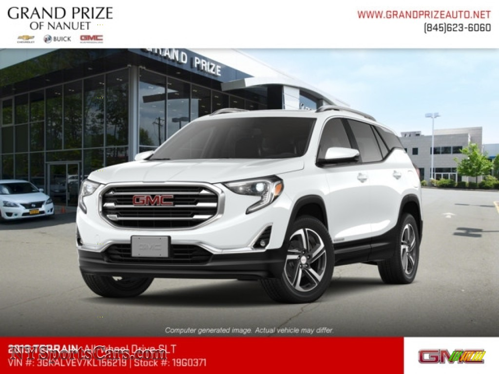2019 Terrain SLT AWD - Summit White / Jet Black photo #1