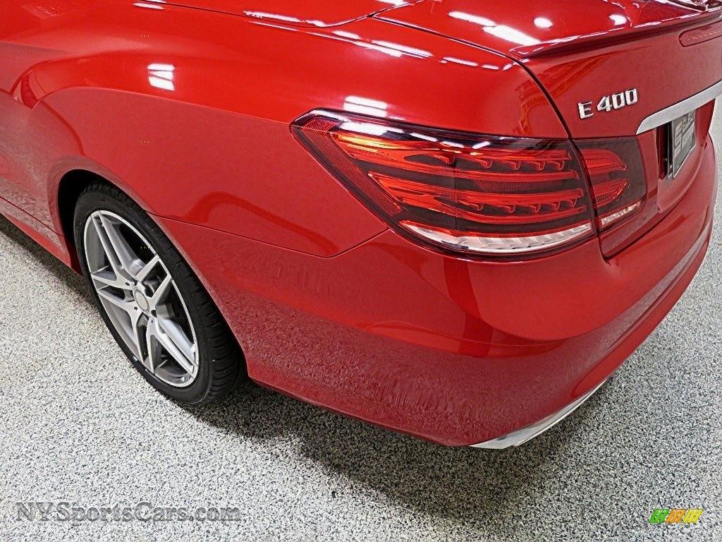2016 E 400 Cabriolet - Mars Red / Natural Beige/Black photo #7