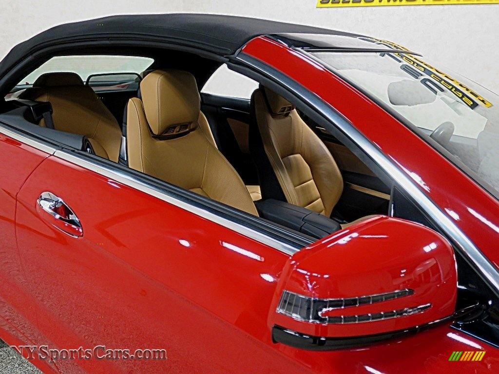 2016 E 400 Cabriolet - Mars Red / Natural Beige/Black photo #13