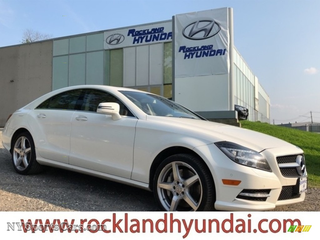 2014 CLS 550 4Matic Coupe - Diamond White Metallic / Almond/Mocha photo #1