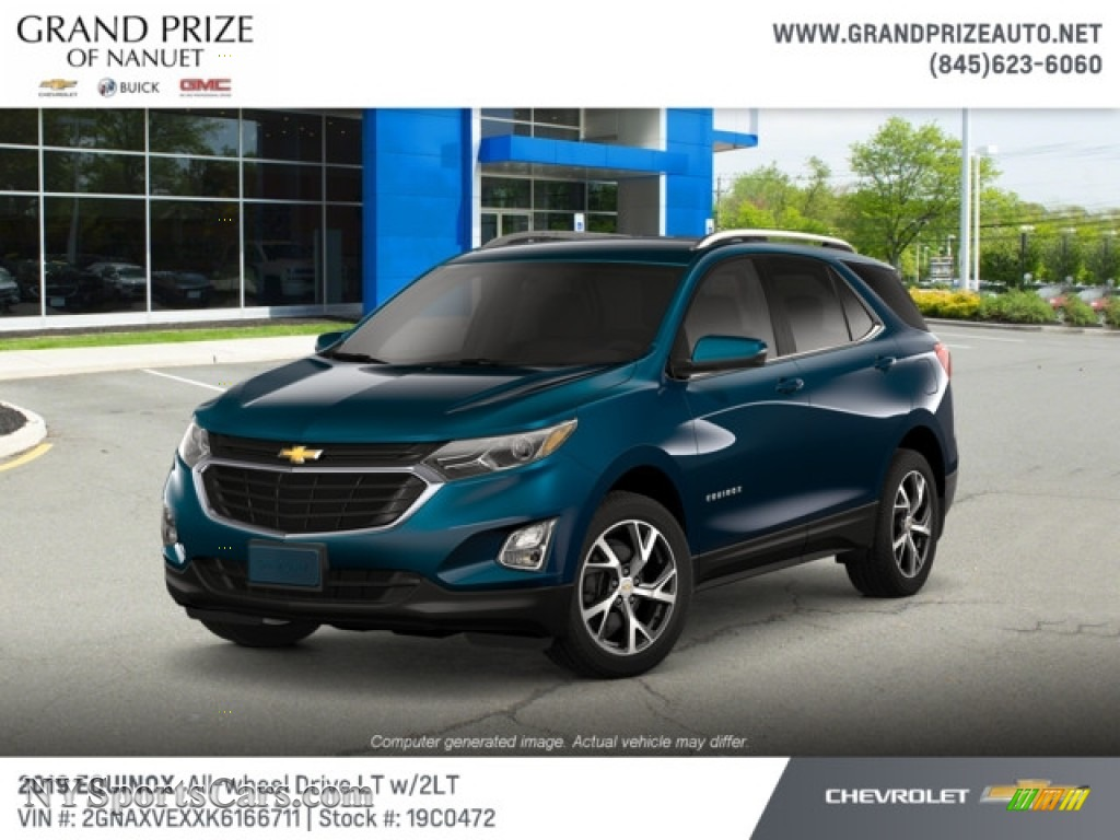 2019 Equinox LT AWD - Pacific Blue Metallic / Jet Black photo #1