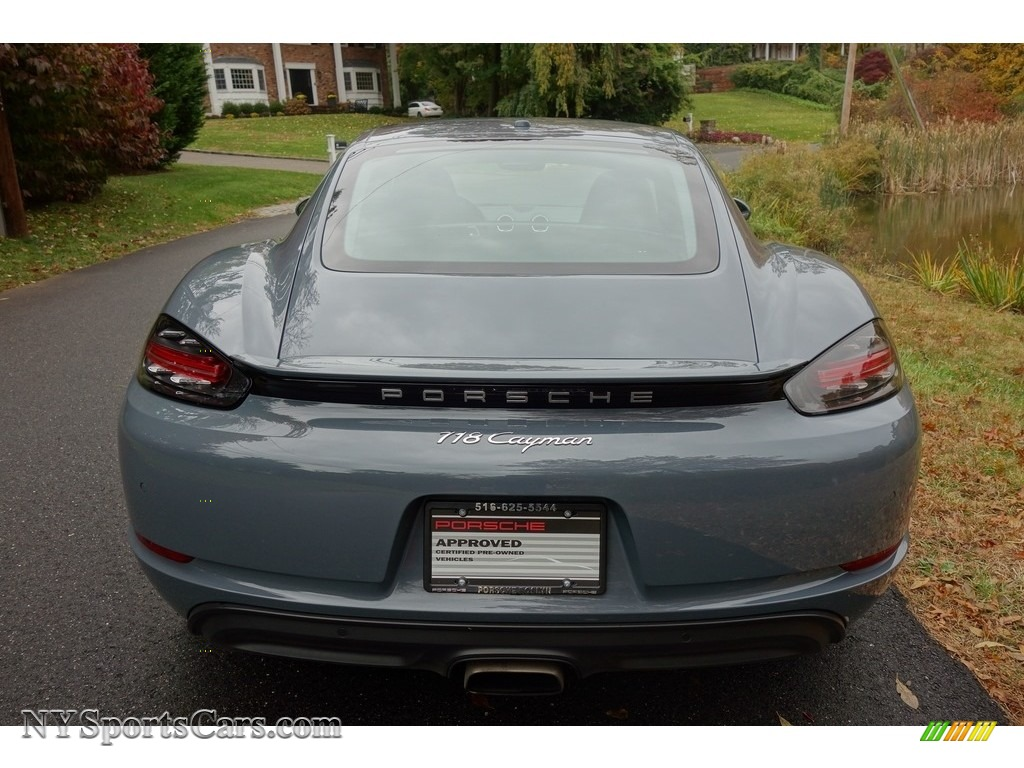 2018 718 Cayman  - Graphite Blue Metallic / Black photo #5