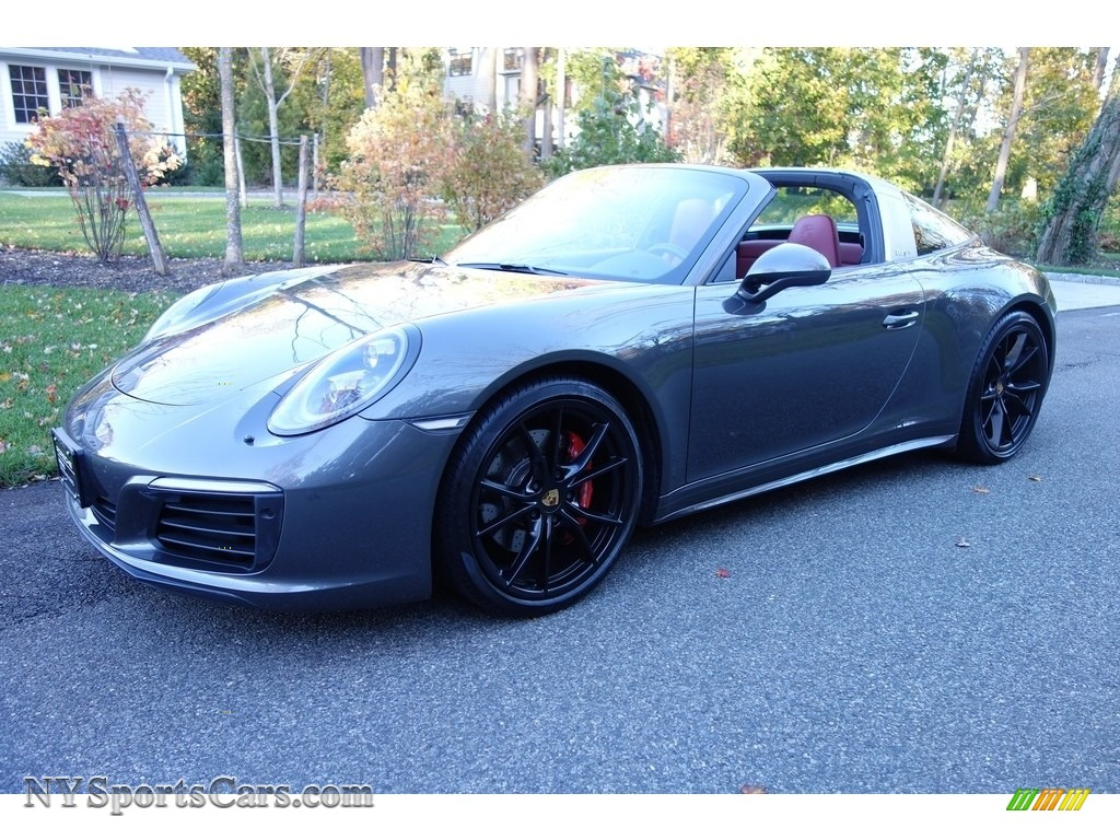 Agate Grey Metallic / Black/Bordeaux Red Porsche 911 Targa 4S