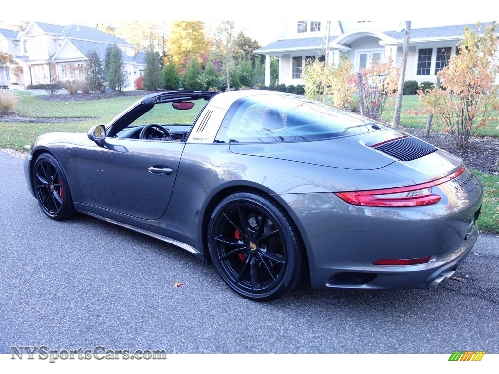 2017 911 Targa 4S - Agate Grey Metallic / Black/Bordeaux Red photo #4