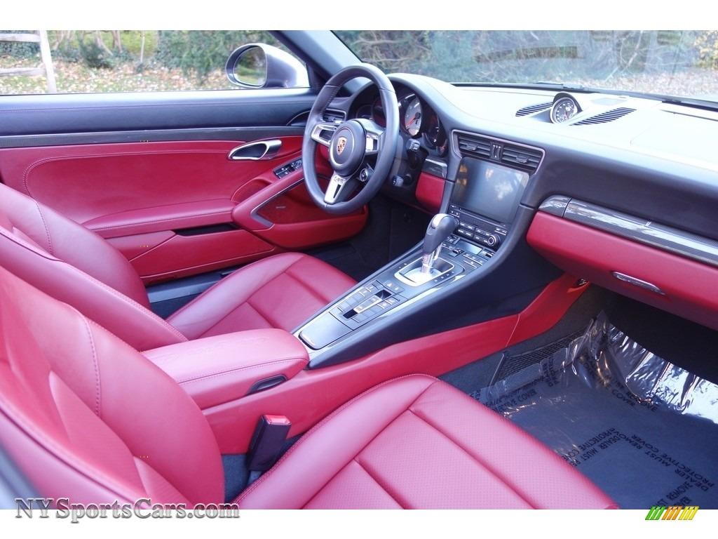 2017 911 Targa 4S - Agate Grey Metallic / Black/Bordeaux Red photo #17