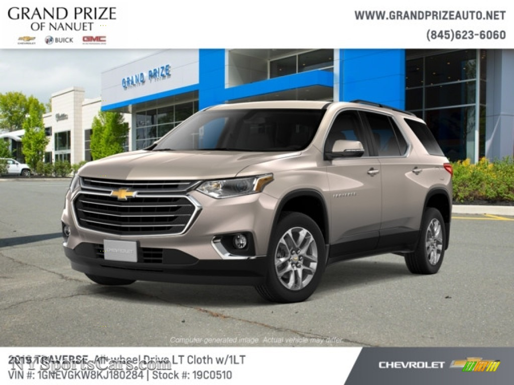 2019 Traverse LT AWD - Pepperdust Metallic / Jet Black photo #1