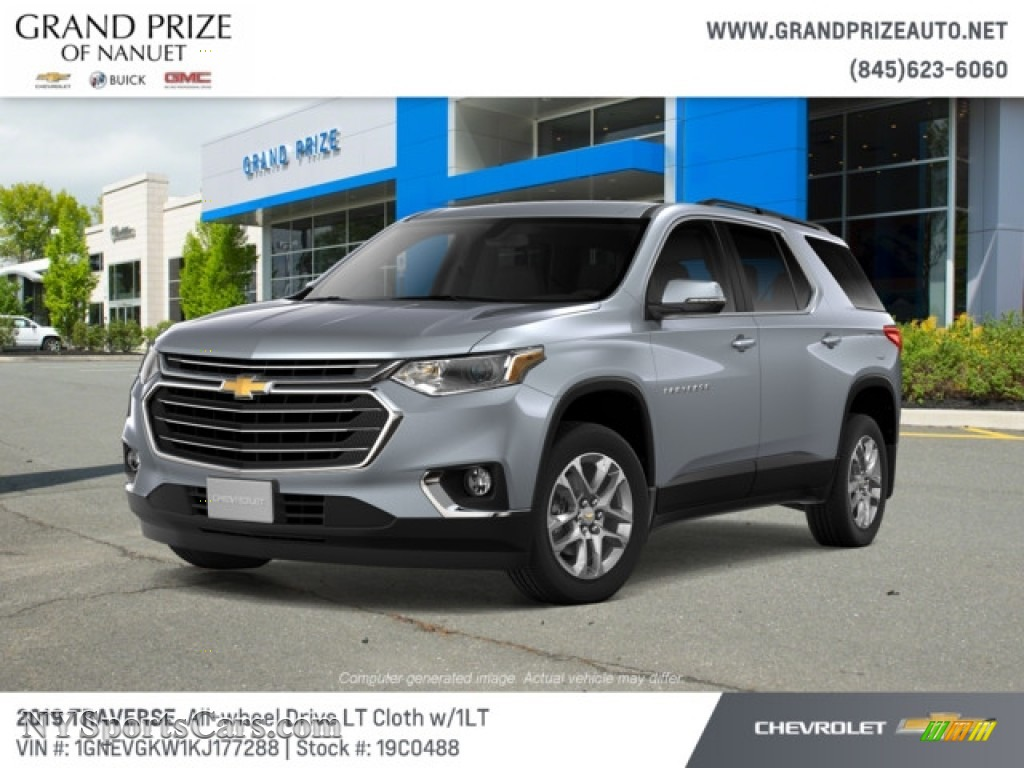 2019 Traverse LT AWD - Satin Steel Metallic / Jet Black photo #1