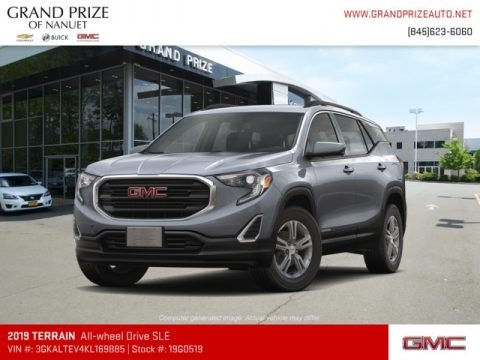 Satin Steel Metallic 2019 GMC Terrain SLE AWD