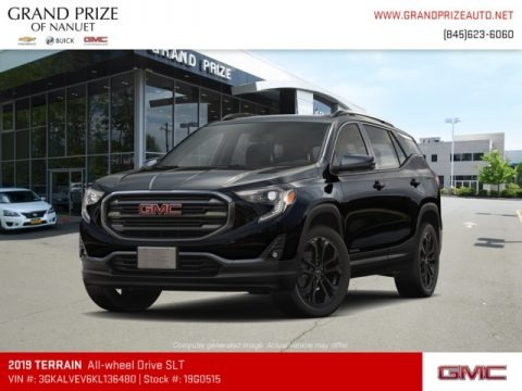Ebony Twilight Metallic 2019 GMC Terrain SLT AWD
