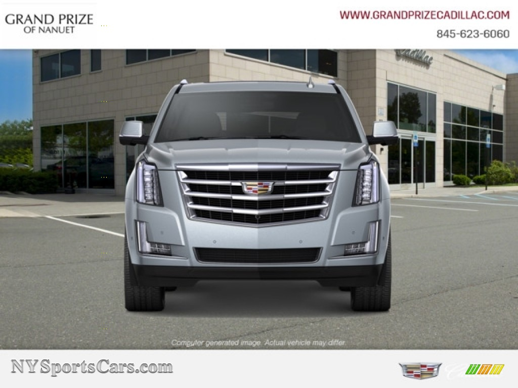 Satin Steel Metallic / Jet Black Cadillac Escalade Luxury 4WD