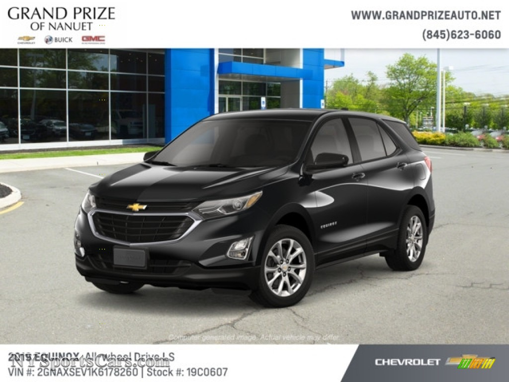 Mosaic Black Metallic / Medium Ash Gray Chevrolet Equinox LS AWD