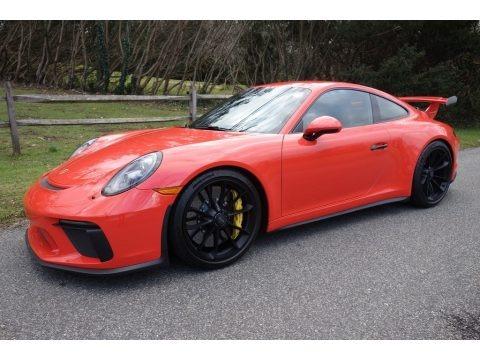 Lava Orange 2018 Porsche 911 GT3