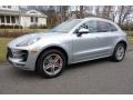 Porsche Macan Turbo Rhodium Silver Metallic photo #1