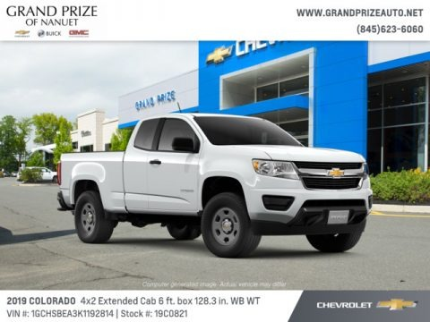 Summit White 2019 Chevrolet Colorado WT Extended Cab