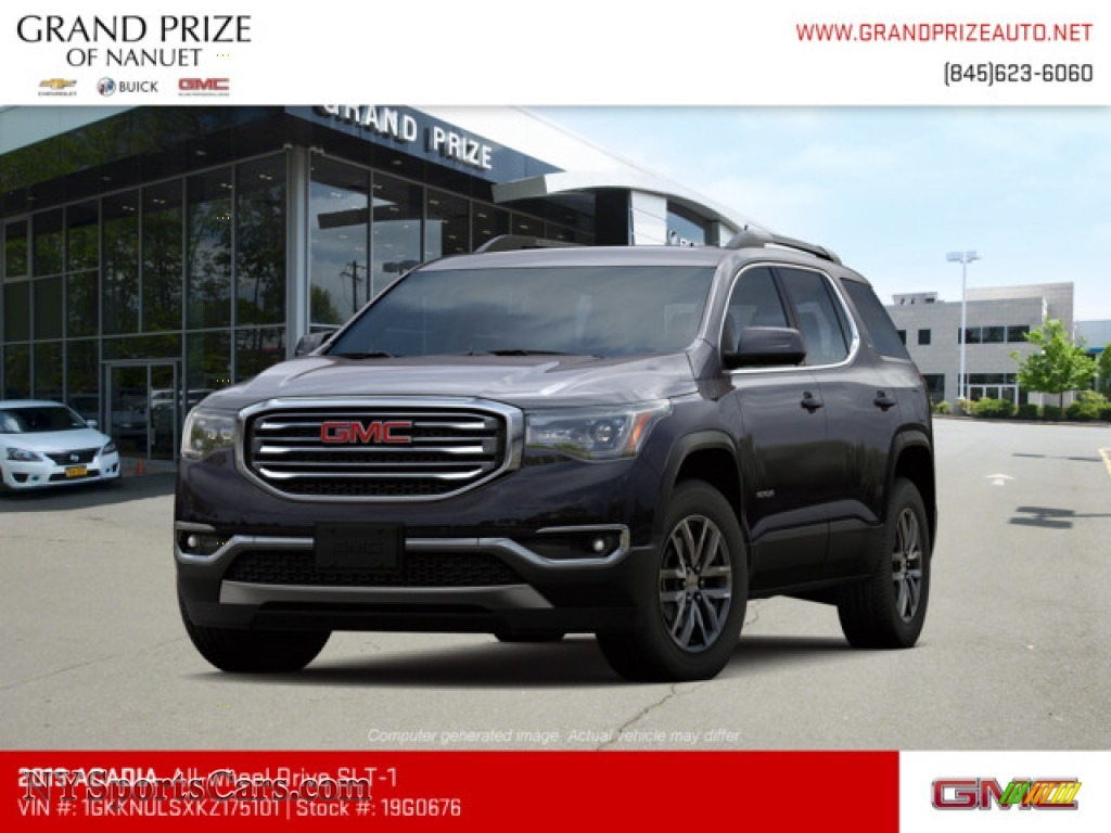 Iridium Metallic / Jet Black GMC Acadia SLT AWD