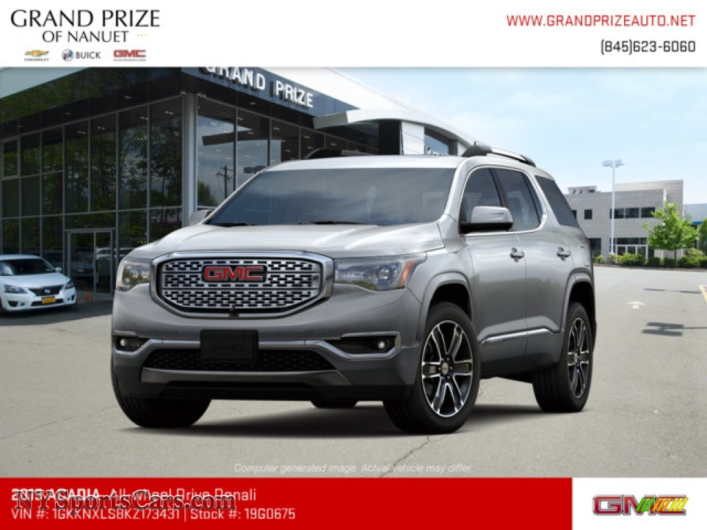 Quicksilver Metallic / Jet Black GMC Acadia Denali AWD