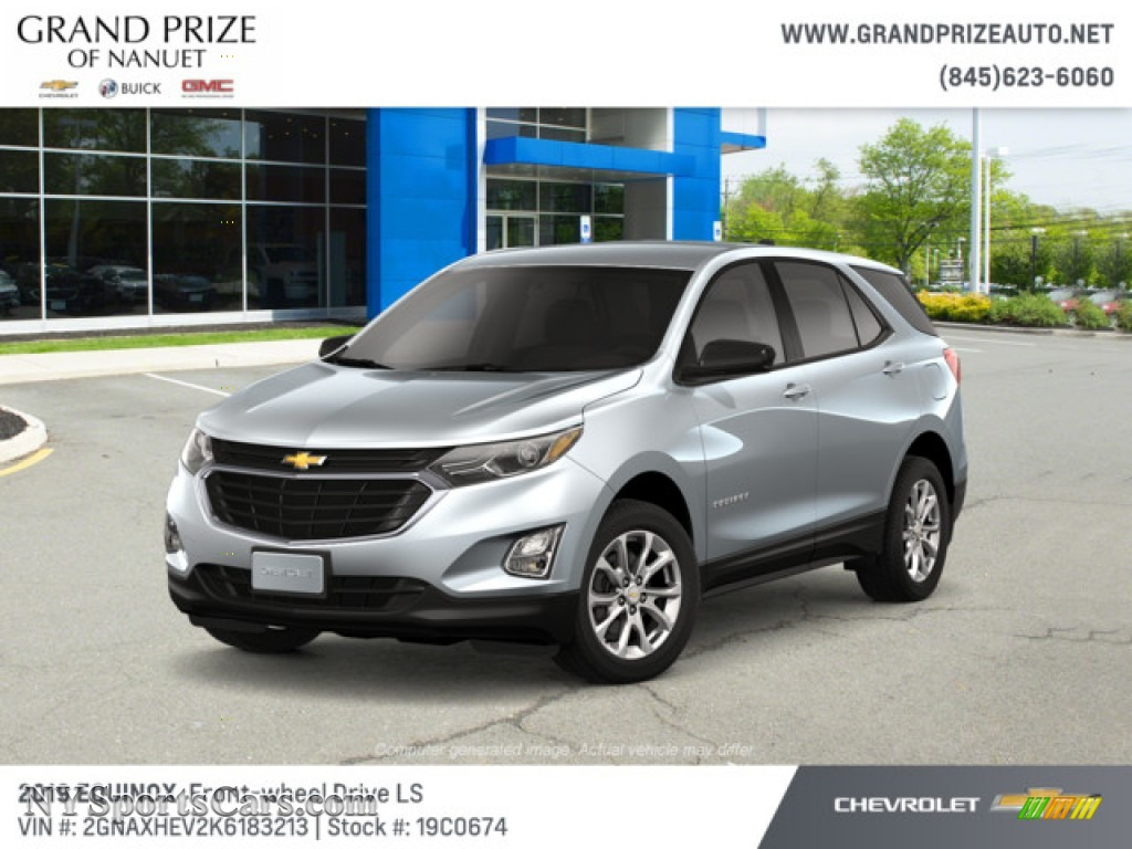 2019 Equinox LS - Silver Ice Metallic / Medium Ash Gray photo #1