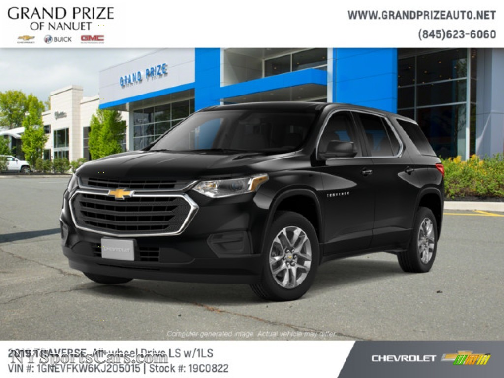 2019 Traverse LS AWD - Mosaic Black Metallic / Jet Black photo #1