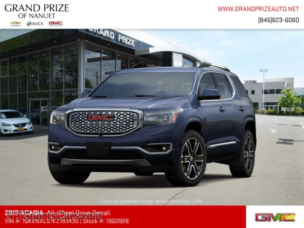 Blue Steel Metallic / Jet Black GMC Acadia Denali AWD
